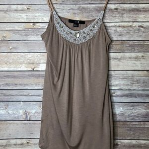 Forever 21 Jewel Beach Embellished Cami S/P
